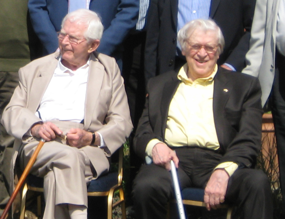Writers Jimmy Perry and David Croft in 2011